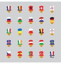 Set of football fan icon vector