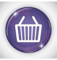 Shopping basket button icon Social media design vector