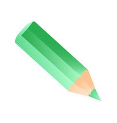 short small pencil icon green colorful pencil vector image