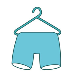 shorts hanging in the laundry vector image