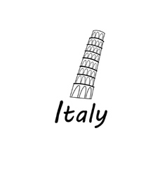 sign leaning tower pisa vector image
