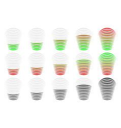 Signal strength progress level indicator vector