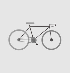 simple flat style bicycle sport graphic vector image