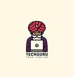 tech guru logo vector image