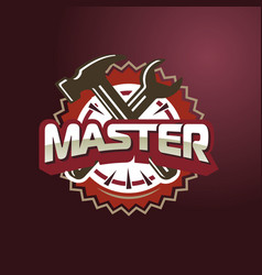 text master hammer and wrench vector image
