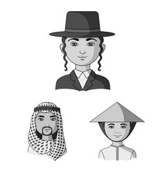The human race monochrome icons in set collection vector