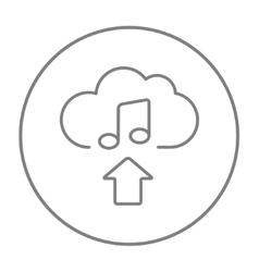 Upload music line icon vector