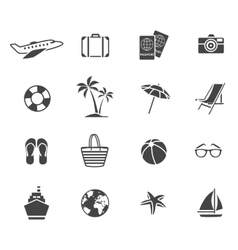 Vacation Graphic Flat Icons Set vector image