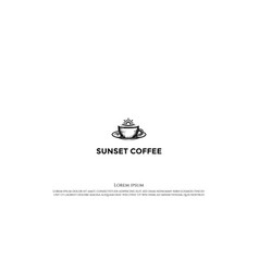 vintage retro sunrise morning with coffee mug vector image
