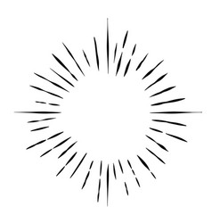 Vintage sunburst design element awesome vector