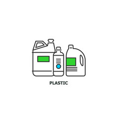 Waste plastic recycle concept icon in line design vector