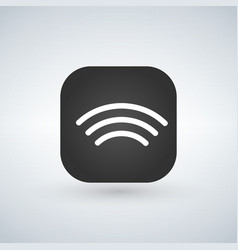 Wifi wireless network icons over app button vector