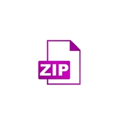 ZIP Icon concept for design vector