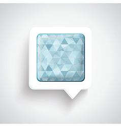 Abstract 3D Design - Speech bubble blue vector image vector image