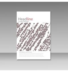 Abstract modern flyer brochure vector