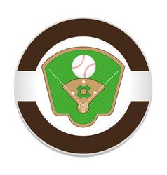 baseball sport field emblem icon vector image