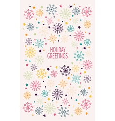 Card with multicolored snowflakes vector