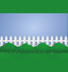 garden with blank space paper art style vector image vector image
