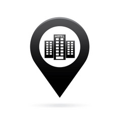 hotel map pointer icon marker gps location flag vector image vector image