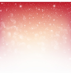 Snow fall with bokeh abstract red background eps10 vector image vector image
