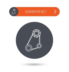 Timing belt icon generator strap sign vector