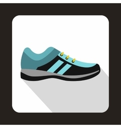 Blue sneakers icon in flat style vector image