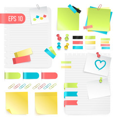 colorful paper notes set vector image