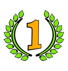 laurel wreath icon icon cartoon vector image