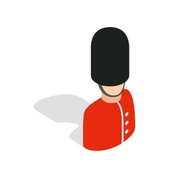 Royal guardsman icon isometric 3d style vector