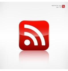 Rss icon news symbol vector image