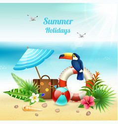 summer holidays realistic concept vector image