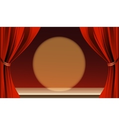 The Empty Theater Stage vector image vector image