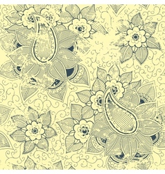 vintage floral seamless pattern element vector image