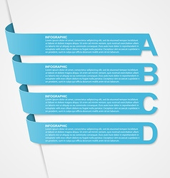 Abstract 3D options ribbons infographic vector image vector image