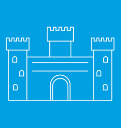 Ancient castle icon outline style vector