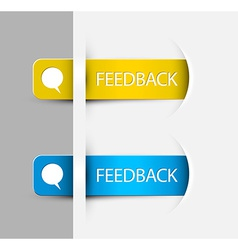Feedback Labels Stickers on the edge of the web vector image vector image