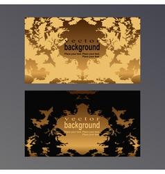 Gold card vector