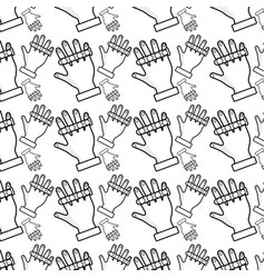 Hand up with nails and finger background vector