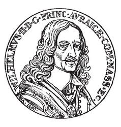King william ii rufus of england vintage vector