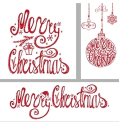 Christmas cardsLettering typography elements vector image vector image
