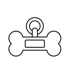 dog bone icon vector image