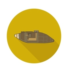 flat icon tank of the first world war vector image