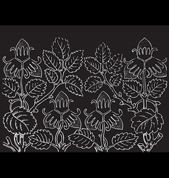 Hand drawn of strawberry bushes Branch vector image vector image