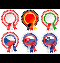 rosettes central european vector image vector image