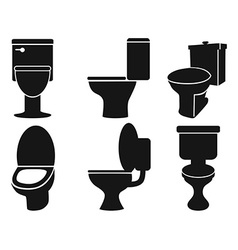 toilet silhouettes vector image vector image