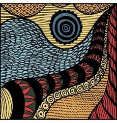 zentangl background vector image