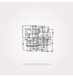 abstract metro circle glossy web icon vector image