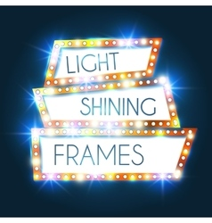 Abstract Shining Frame Retro Light Banner vector image
