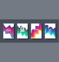abstract trendy geometric background with liquid vector image