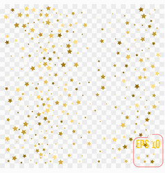 abstract white modern pattern with gold stars vector image